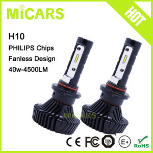 2017 Newest Philips LED 4500lm H10 9005 9006 Car LED Headlight pictures & photos