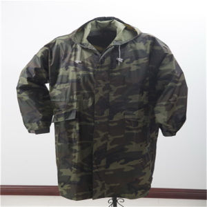170t Polyester/PVC Longcoat with Camouflage Printing pictures & photos