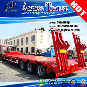 Shock Price Tri-Axle 60tons Platform Low Bed Semi Trailer for Sale pictures & photos