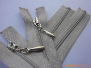 Gray Open End Nylon Long Chain Zipper pictures & photos