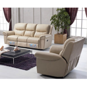 Best Selling Leather Reclining Sofa Massage Recliner Sofa 6037 pictures & photos