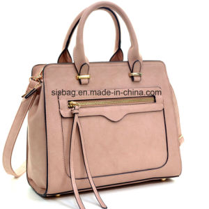 New Women PU Vegan Leather Satchel Handbag Shoulder Bag pictures & photos