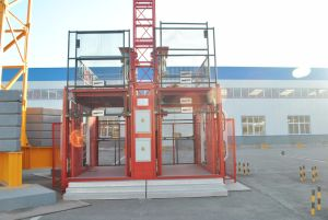 Building Lift/Double Cage Construction Hoist (SC200/200) -2tons pictures & photos