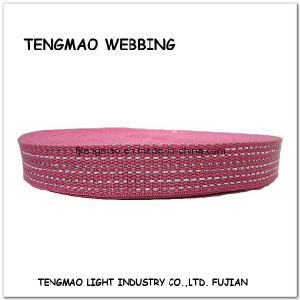 """1"""" Grey Pink Jacquard PP Webbing pictures & photos"""