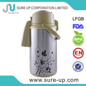 Fashion Colorful Flower Thermos Vacuum Pot with Glass Inner pictures & photos