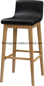 High Quality Wooden PU Leather Bar Chair (FOH-BCA72) pictures & photos