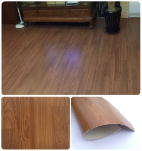 1.6mm Thickness PVC Vinyl Flooring Wooden Woven Floor Tiles pictures & photos