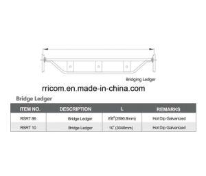 Hot Dip Galvanized Ring Lock Scaffolding Bridge Ledger pictures & photos
