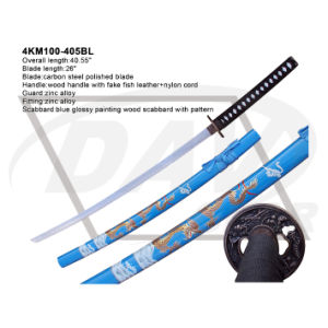"""40.55""""Overall Wood Handle Katana with Carbon Steel Polished Blade: 4km100-405wh pictures & photos"""