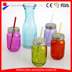 Beverage Bottle Mason Jar Drinking Glass with Handle pictures & photos