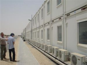 porta cabin/prefab cabin for labor camp/office/dormitory/hotel pictures & photos