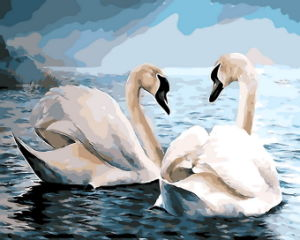 Wooden Frame Swan Picture Acrylic Painting by Bumbers Kit for Home Decor pictures & photos