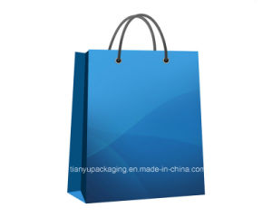 Customized Handle Kraft Paper Shopping Bag for Clothes pictures & photos