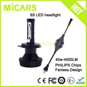 Hot Sale Fanless 4500lm Philips Car LED Headlight