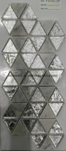 Diamond Shape Glass and Marble Stone Mosaic Tile pictures & photos