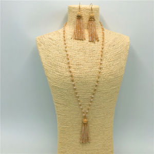 Fashion Crystal Beads Necklace with Pendant Alloy Earrings Jewelry Sets pictures & photos