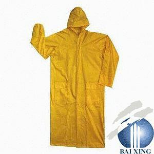 Yellow Raincoat Made by PVC/Polyester pictures & photos