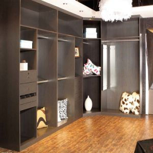 E0 Wood Particle Board Brown Colour Walk in Wardrobe pictures & photos