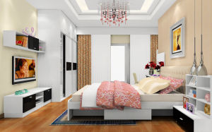 Glossy White Wood Wardrobe for Hotel Furniture (zy-022) pictures & photos