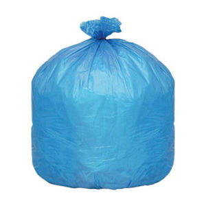 HDPE Blue Disposable C-Fold Plastic Waste Bag pictures & photos