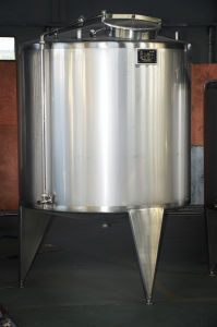 Food Sanitary Stainless Steel 2000L Jacketed Heating Tank pictures & photos