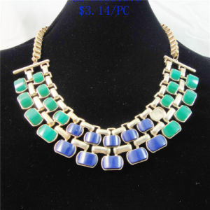 New Item Green Blue Resin Acrylic Fashion Jewellery Necklace