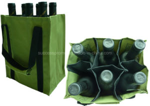 Durable 600d Wine Bag with Customized Logo for 6 Bottles pictures & photos