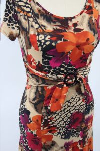 Rayon Fabric Bow Belt Ladies Dress pictures & photos