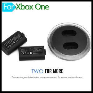 Rechargeable Dual 2800mAh Imitation Battery Charging Station Dock with Recharger USB Cable Kit for xBox One Wireless Controller Gamepad