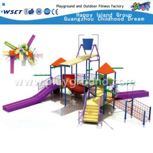 Water Park Small Plastic Slide Playground for Kids Play (A-06302) pictures & photos