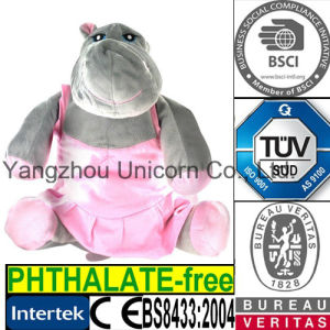 Lavender Silica Stuffed Animal Toy Microwave Heated Hippo