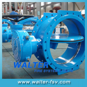 Eccentric Center Double Flange Butterfly Valve pictures & photos