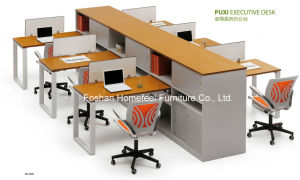 High End Office Workstation with Hutch Cabinet (HF-BSD006) pictures & photos