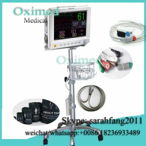 Adult Children Use Multi-Parameter Patient Monitor up-7000 with Trolley