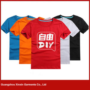 Custom High Quality Cotton Men′s Printing T Shirts with Your Own Logo (R130) pictures & photos
