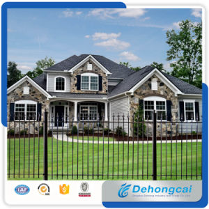 Height Quality Low Price Galvanzied Wrought Iron Fence pictures & photos