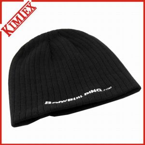 100% Acrylic Knitted Embroidery Promotion Skull Cap pictures & photos