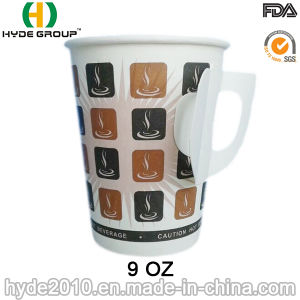 9oz Single Wall Handle Coffee Paper Cup with Handle (9oz-5) pictures & photos