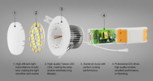 6W Dual White LED Downlight pictures & photos