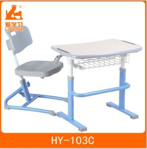 School Adjustable Desk Chair Classroom Furniture with Steel Tubes pictures & photos
