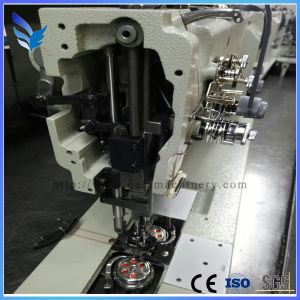 Gem8450d3-H Direct Drive Micro-Oil Auto Trimmer Double Needle Lockstitch Sewing Machine pictures & photos