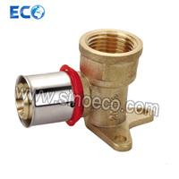 Brass Wallplate Elbow Female Fittings for Pex Al Pex Pipe pictures & photos