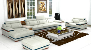High Quality L Shape Genuine Leather Sofa for Home Furniture (957) pictures & photos