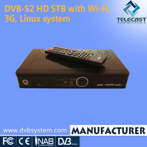 DVB-S2 HD STB with Wi-Fi, 3G, Linux System