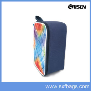Colorful Stripe Insulated Lunch Bag Square Cooler Bag pictures & photos