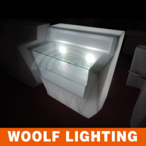 Modern Indoor and Outdoor Plastic Glow LED Bar Counter pictures & photos