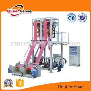 Two Head HDPE LDPE Plastic Film Making Machine pictures & photos