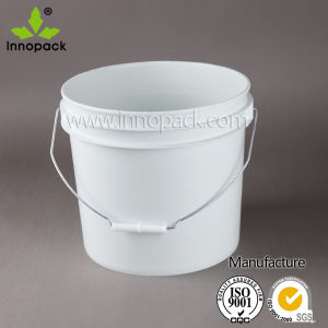 White 13L Heavy Duty Clear Plastic Pail Container Bucket pictures & photos