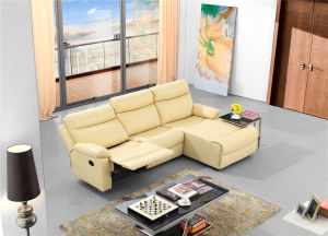 Italy Leather Sofa Chaise Longue for Living Room Used pictures & photos