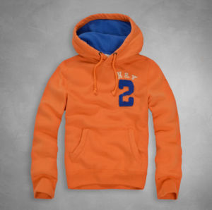 Colorful Soft Breathable Fabric Embroidered Patch Cotton Hoodie with Cap pictures & photos